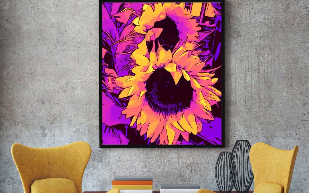 Blumen-Poster bei Artflakes