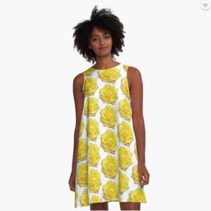 Blumenkleid-gelbe-Rosen